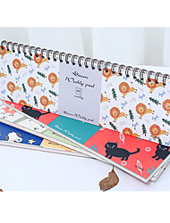 Random Delivery Week Plan This Learning Efficiency Notebook Notepad Schedule Line Circle Book