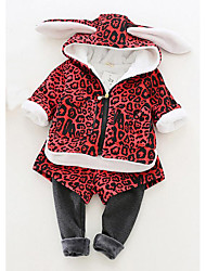 Girl Casual/Daily Solid Sets,Cotton Winter Clothing Set