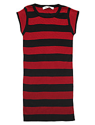 Girl's Going out Casual/Daily Striped Color Block Animal Print Dress,Cotton All Seasons Short Sleeve