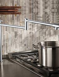 PHASAT  Deck Mounted 2 Handles Single Hole Brass Pot Filler Kitchen Faucet Oil Rubbed Bronze