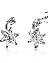 Drop Earrings AAA Cubic Zirconia Zircon Cubic Zirconia Copper Silver Jewelry Daily Casual 1 pair