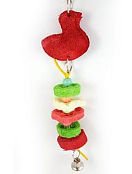 pássaro multi-color brinquedos do pássaro têxtil 1pc