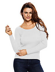 Women's Lace Up Back Detail Sweater
