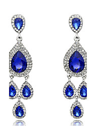 Drop Earrings Sapphire Crystal Fashion Royal Blue Jewelry Wedding Party Daily 1 pair