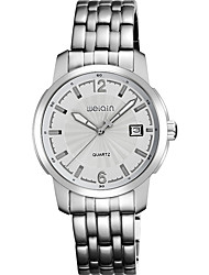 Men's Fashion Watch Automatic self-winding Calendar Water Resistant/Water Proof Stainless Steel Band Silver Brand