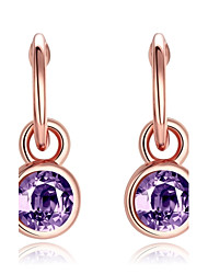 Drop Earrings Opal Simulated Diamond Alloy Fashion Purple Jewelry Daily Casual 1 pair