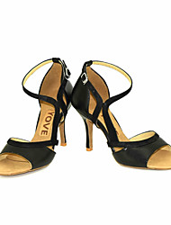 Obyčejné-Dámské-Taneční boty-Latina Slasa-Kůže-Na zakázku-Černá Žlutá Červená
