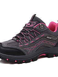 Women's Athletic Shoes Spring Fall PU Outdoor Flat Heel Lace-up Fuchsia Dark Grey Dark Purple Hiking