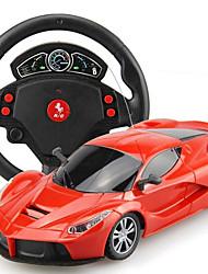 Carro Corrida 1:24 Carro com CR Vermelho Preto Pronto a usar Carro de controle remoto Controle Remoto/Transmissor