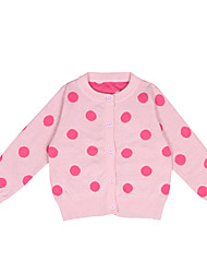 Girl Going out Casual/Daily School Polka Dot Color Block Jacquard Sweater & Cardigan