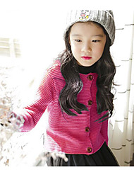 Girl Casual/Daily Solid Sweater & Cardigan,Rayon Winter Spring Fall Long Sleeve Long