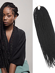 Senegal Twist Braids Dark Brown Hair Braids 20Inch Kanekalon 98g 35 Strands Synthetic Hair Extensions