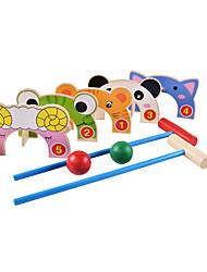 Bildungsspielsachen Für Geschenk Bausteine Neuheiten - Spielsachen Katze Frosch Schaf Tier Holz 2 bis 4 Jahre 5 bis 7 Jahre 8 bis 13 Jahre