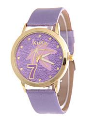 Men's Women's Fashion Watch Wrist watch Quartz PU Band Blue Brown Green Pink Purple Brand