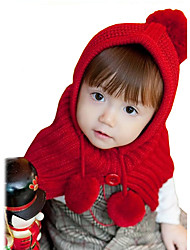 Girl's Knitting Winter Going out/Casual/Daily Keep Warm Plush Hat Cappa Children Warmth Cap