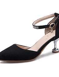 Damen-High Heels-Büro Kleid Party & Festivität-Vlies-Kitten Heel-Absatz-Club-Schuhe-Schwarz Rosa Beige