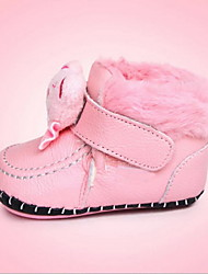 Kids' Boots Winter First Walkers Leather Casual Flat Heel Split Joint