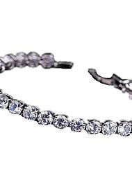 Women's Tennis Bracelet Zircon Cubic Zirconia Copper Gold Plated Fashion Luxury Jewelry White Purple Pink Jewelry 1pc