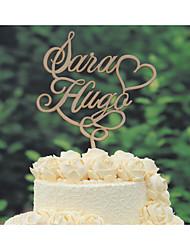 Decorações de Bolo Personalizado Casal Clássico Cromado Casamento Aniversário Amarelo Tema Clássico Tema vintage Tema rústico 1 Bolsa Poly