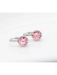Earrings Set Jewelry Women Wedding Party Zircon 1 pair As Per Picture