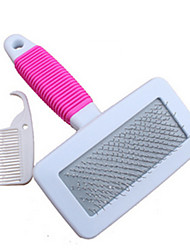 Chien Nettoyage Brosse Peignes Brosses Portable Blanc