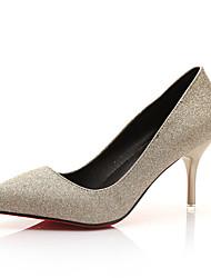 Damen-High Heels-Lässig-Kunstleder-Stöckelabsatz-Andere-Schwarz Gold Hellblau