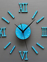 Модерн Ретро Праздник Духовное развитие Семья Мультфильмы Настенные часы,Круглый Новинки Акрил Стекло Металл 50 Применение Часы