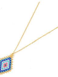 Women's Pendant Necklaces Geometric Crystal Gold Plated Geometric Fashion Handmade Jewelry 147 Birthday Daily