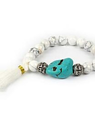 Women's Strand Bracelet Beaded Gemstone Agate Irregular White Yellow Jewelry For Casual 1pc