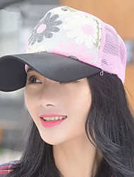 Fashion Spring And Summer Lady Sequins Sun Flower Net Cap Leisure Shade Cap
