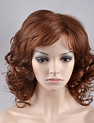 2017 Europe and the United States in the new long paragraph pear head oblique Liuhai side of the brown high temperature wire wig