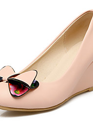 Women's Shoes Wedge Heel Round toe Bowknot Cute Pump More Color Available