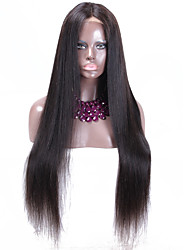 High density Brazilian Lace Front Wigs Virgin human hair Curly Wig Glueless Wigs With Baby Hair Bleached Knots