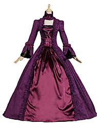 Costumes de Cosplay Princesse Déesse Costumes de père noël Fête / Célébration Déguisement d'Halloween Violet Imprimé RobeHalloween Noël