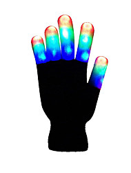 Inspired by Cosplay Flashing LED Light Gloves - Kids Size and Adult Size Costumes Gloves Rainbow  For Unisex