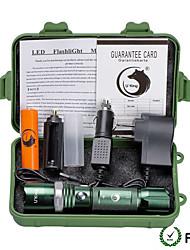 U'King ZQ-X940-EU Plug-green CREE XML-T6 2000LM 5Mode Flashlight Torch Kit with Attack Head Self-defense Function