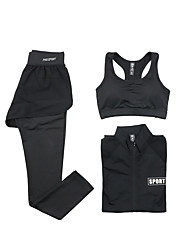 Running Sports Bra Clothing Sets/Suits Women's Long Sleeve Breathable Quick Dry Modal Polyester Yoga Exercise & Fitness RunningSports