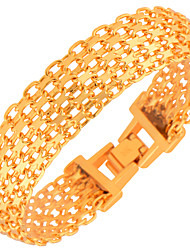 New Fashion Men's Bracelets High Quality 18k Gold Plated Women Fashion India Jewelry Bangles Chain Gifts B40107