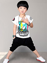 Boy Casual/Daily Solid Sets,Rayon Summer Long Sleeve Pants