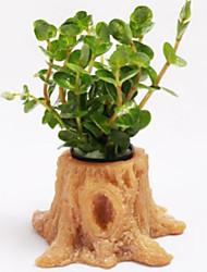 Aquarium Dekoration Steine Wasserpflanze Nicht - giftig & geschmacklos Harz Orange