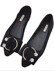 Women's Flats Leatherette Outdoor Flat Heel Black