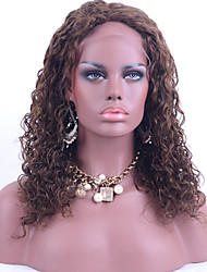 Brown Color Malaysian Hair Full Lace Wigs Kinky Curly Hair 130% Density Human Virgin Hair Lace Wigs For Black Woman