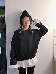 signer shirt de mode korean couture pull faux deux marée femme