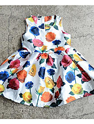 Girl's Casual/Daily Floral Dress,Rayon Summer Sleeveless