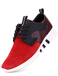 Men's Oxfords Spring Summer Fall Winter Comfort Light Soles Suede Casual Flat Heel Lace-up Black Red Gray Other