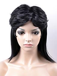 europe et aux États-Unis dans la nouvelle section longue de la chevelure noire cheveux raides haute température pelucheux fil perruque