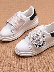 Girl's Sneakers Comfort PU Casual Black Red