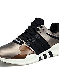 Homme Chaussures d'Athlétisme Confort Néoprène Printemps Eté Extérieure Décontracté Sport Course à Pied Lacet Or Noir Bourgogne Plat