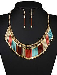 European and American fashion national hand-made by storm Bohemia necklace tassel necklace set # 0249