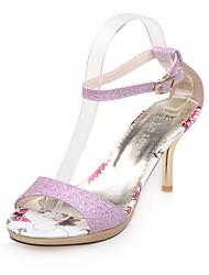 Damen-High Heels-Kleid Lässig Party & Festivität-Kunststoff-Stöckelabsatz-Andere-Rosa Lila Gold